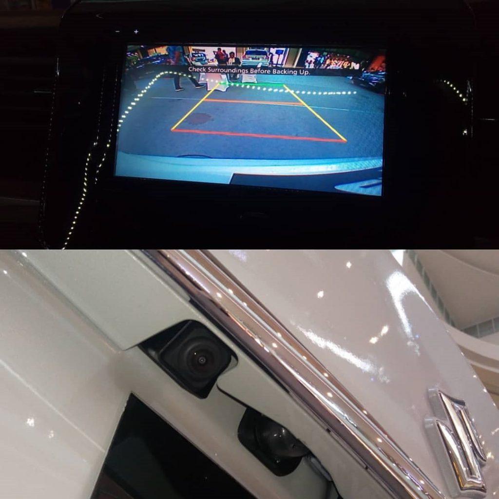 Camera mundur Ertiga Sport putih
