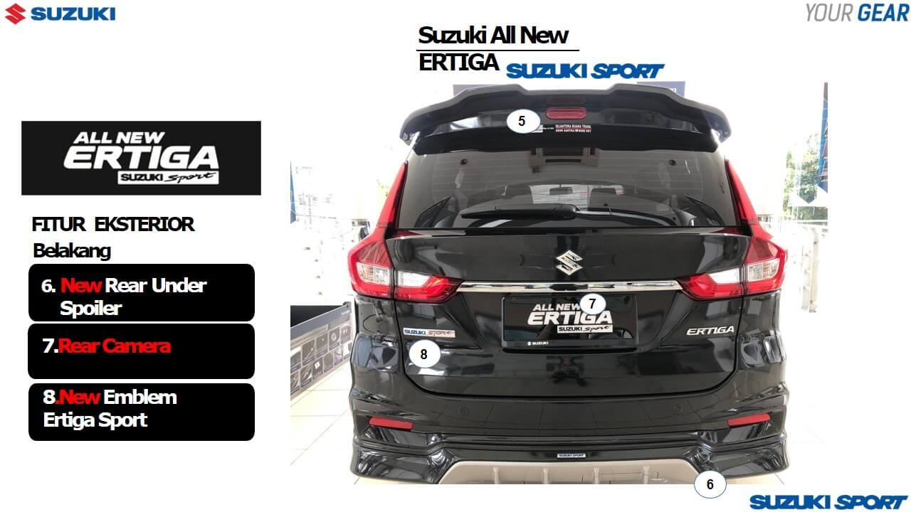 Fitur Ertiga Sport dari tampak belakang - 13 Fitur Terbaru Suzuki Ertiga Sport 2019