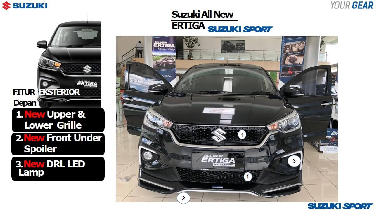Fitur Exterior Terbaru Ertiga Sport 2019 tampak Depan - 13 Fitur Terbaru Suzuki Ertiga Sport 2019