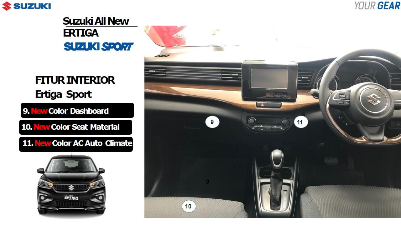 Fitur Interior Ertiga Sport 2019 Geovanny Sales Suzuki Jakarta Bekasi - 13 Fitur Terbaru Suzuki Ertiga Sport 2019