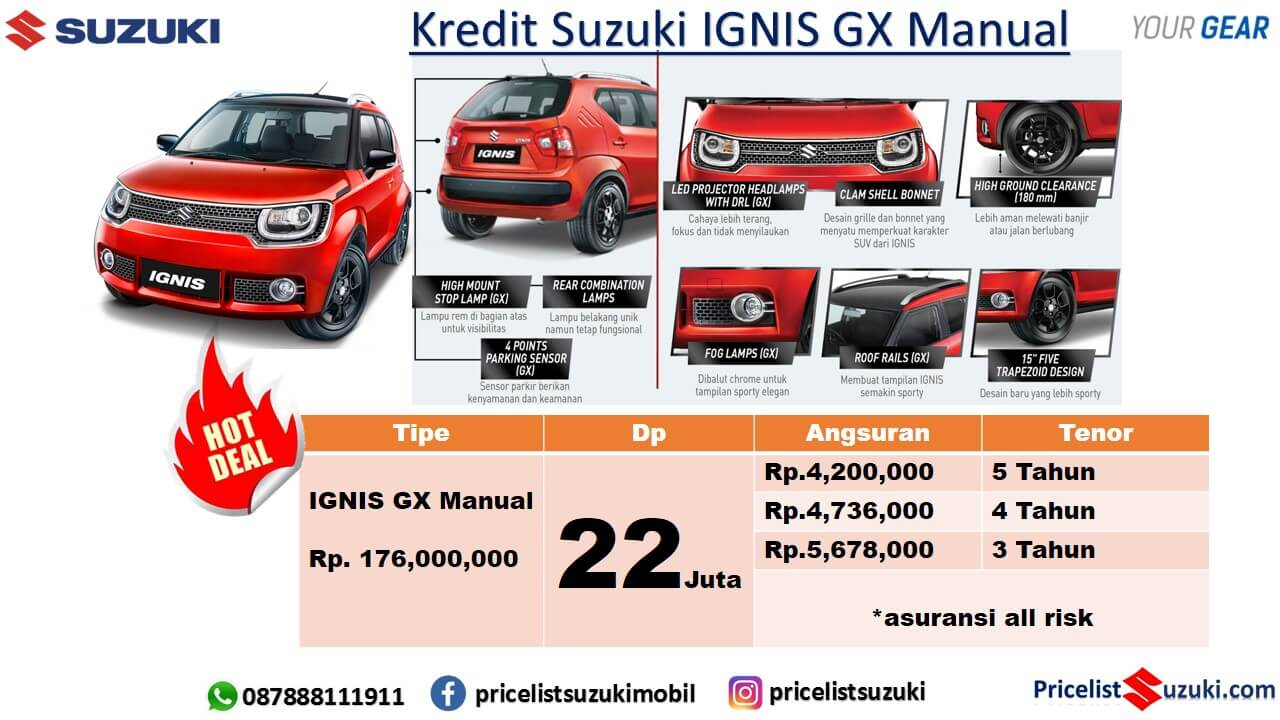 Kredit Suzuki Ignis GX Manual 2019 Dp Ringan Cicilan Murah  - Promo Kredit Suzuki Mobil 2019