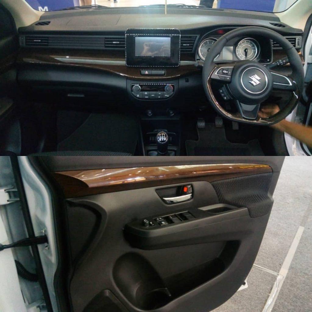 kabin dalam interior dashboard ertiga sport putih semua nya warna hitam aksen kayu 1024x1024 - 3 Warna Suzuki All New Ertiga Sport