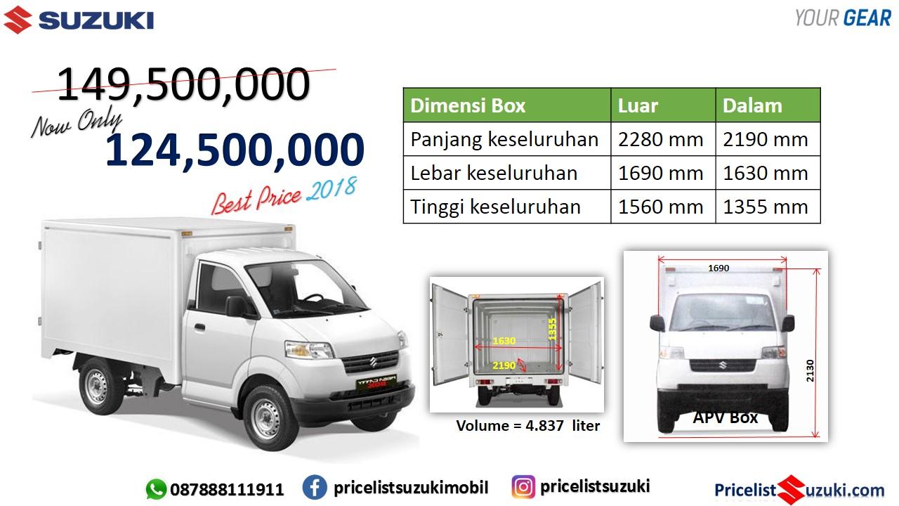 pricelist Suzuki Apv Box 2018 Harga khusus - Apv Box 2018 Harga Murah Cocok Untuk Usaha
