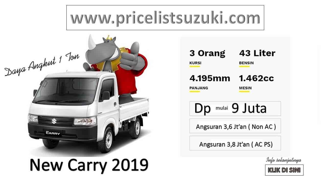 NEW CARRY DP 9 JUTA Kredit Suzuki New Carry Mei 2019 - Promo Suzuki Irfan Tama Mei 2019