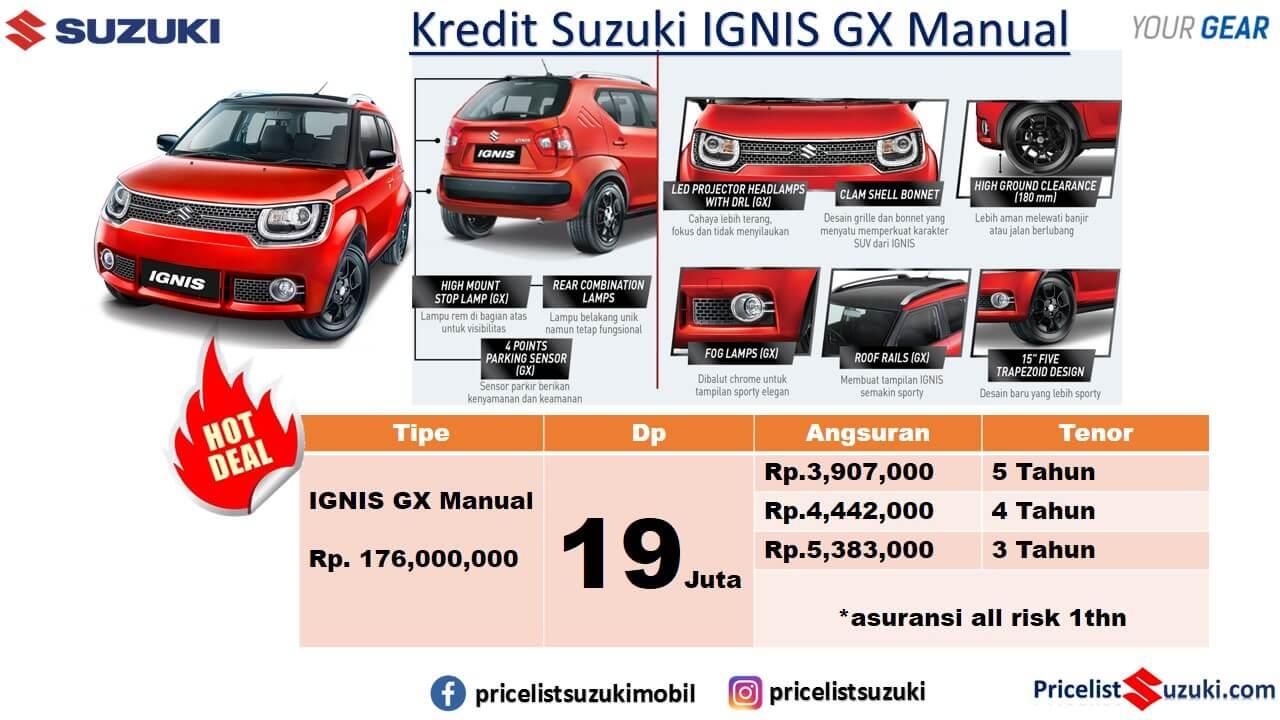 Promo IGNIS GX Manual Geovanny Suzuki Mobil Kredit Ignis Murah Mei 2019 - Promo Suzuki Irfan Tama Mei 2019