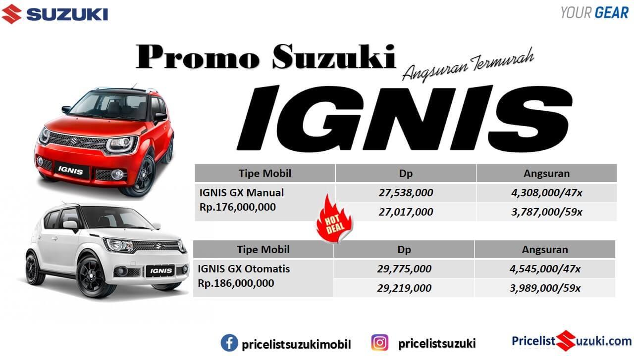 Promo Suzuki IGNIS ANgsuran Murah Mei 2019 Pricelist Suzuki mobil  - Promo Suzuki Irfan Tama Mei 2019